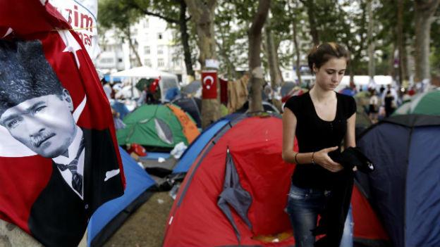 Protestcamp im Istanbuler Gezi-Park.