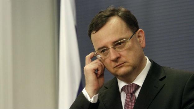 Seine Tage sind gezählt: Der abtretende Tschechische Regierungschef Petr Necas.