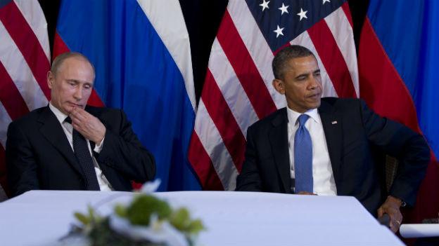 Haben sich im Moment nicht viel zu sagen: Putin und Obama am G-8 Gipfel.