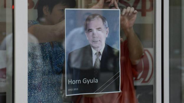 Der frühere ungarische Regierungschef Gyula Horn ist tot.