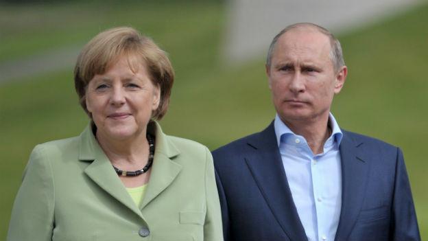 Merkel und Putin diese Woche in Nordirland.
