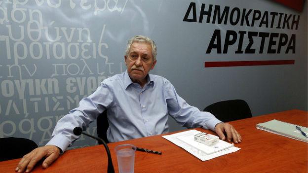 Seine Partei verlässt die griechische Regierungskoalition: Fotis Kouvelis.