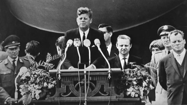 «Ich bin ein Berliner»: vor 50 Jahren sprach Kennedy die berühmten Worte.