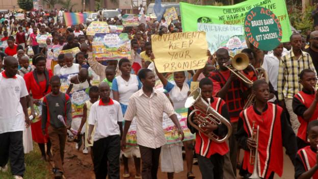 Homophobie ist in Afrika weit verbreitet: eine Demonstration gegen Homosexualität in Uganda im Januar 2010.