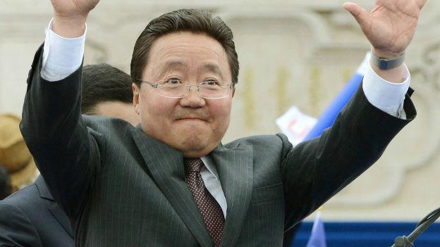 Präsident Elbegdorj kämpft um seine Wiederwahl.