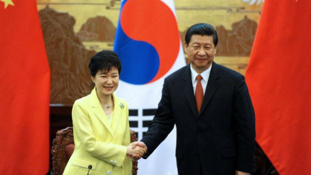 Park Geun-hye zu Besuch bei Xi Jinping