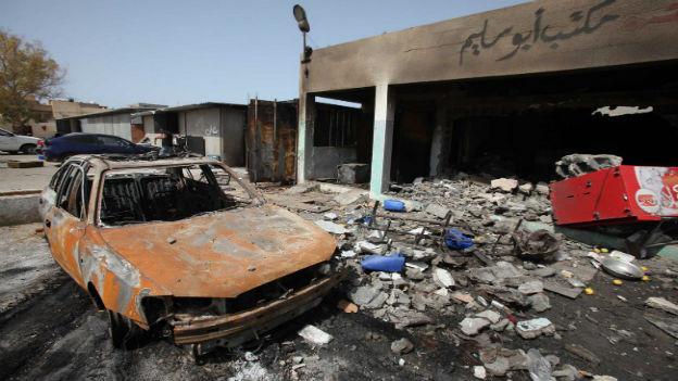 Szenen der Verwüstung in Tripolis.