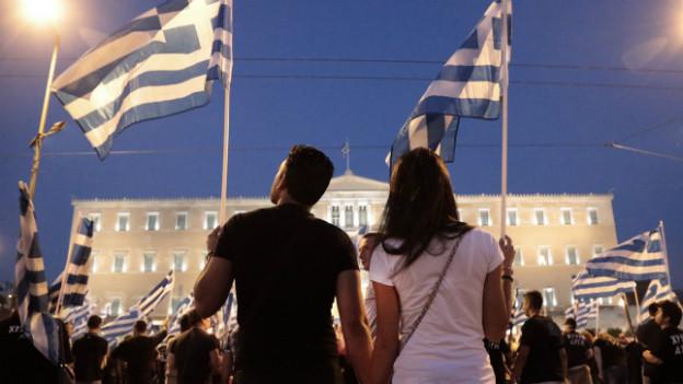 Vereint im Protest gegen das griechische Sparprogramm: Demonstranten in Athen im Mai 2013.