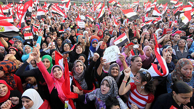 Protestveranstaltung gegen den ägyptischen Präsidenten Mursi, am 2. Juli in Kairo.