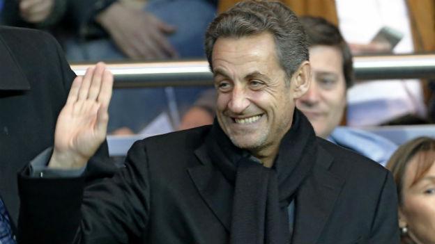 Ex-Präsident Sarkozy an einem Fussballspiel in Paris (April 2013).