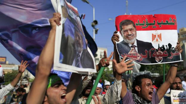 Proteste von Anhängern des gestürzten Präsidenten Mursi