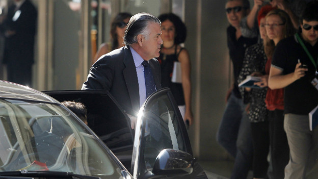 Luis Barcena bei seiner Verhaftung, er steht unter Korruptionsverdacht.