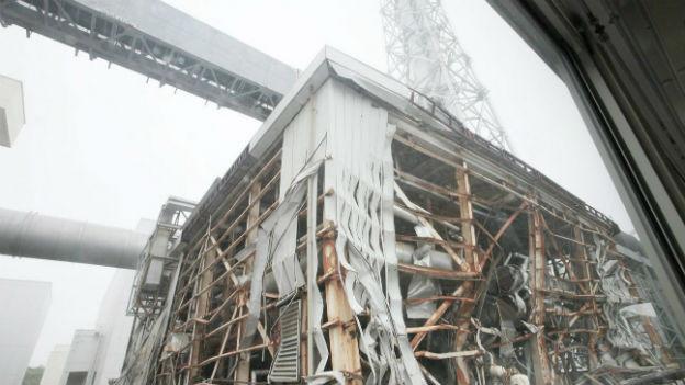 Die beschädigte Atomanlage in Fukushima.