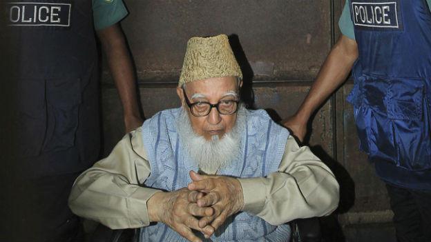 Der 90-jährige Ghulam Azam wurde zu 90 Jahren Gefängnis verurteilt.