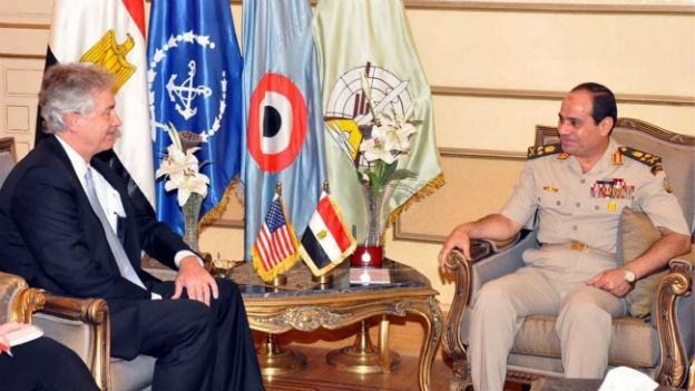 US-Vizeaussenminister William Burns trifft den ägyptischen Verteidigungsminister General Abdel-Fattah el Sissi