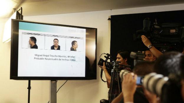 Pressekonferenz nach der Verhaftung von Los Zetas-Boss Miguel Ángel Treviño Morales in Mexiko-Stadt.