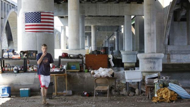 Obdachlos in der Hauptstadt der Supermacht USA