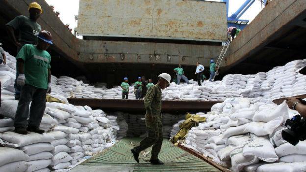 Waffencontainer unter Zuckersäcken: Nordkoreanischer Frachter in Panama.