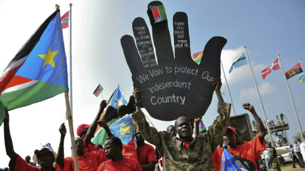 Feiern zum ersten Jahrestag der Unabhängigkeit im Südsudan im Jahre 2012.