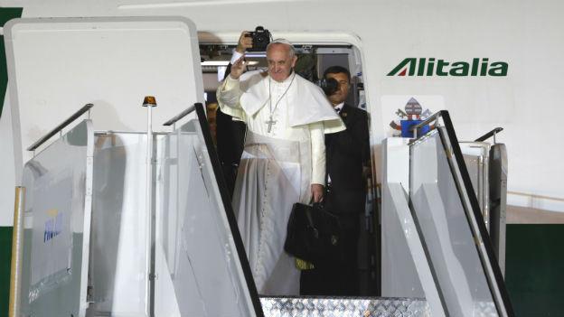 Papst Franziskus vor seiner Abreise in Rio de Janeiro.