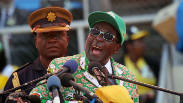 Simbabwes Präsident Robert Mugabe im Wahlkampf.