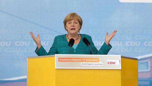 Die Umfragewerte der Deutschen Bundeskanzlerin sind nahezu unerschütterlich.