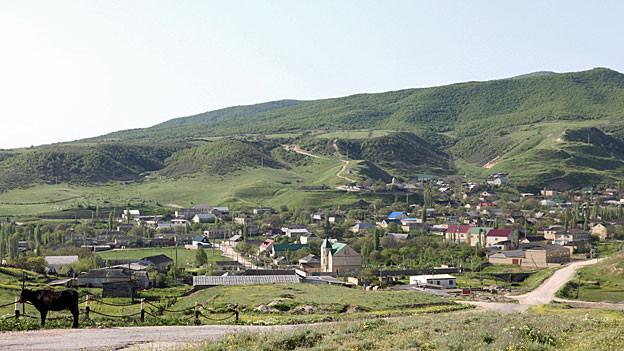 Die Ortschaft Utamysh, 85 Kilometer südlich von Dagestans Hauptstadt Machatschkala.