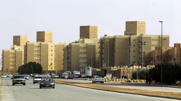Strasse in Saudi-Arabien.