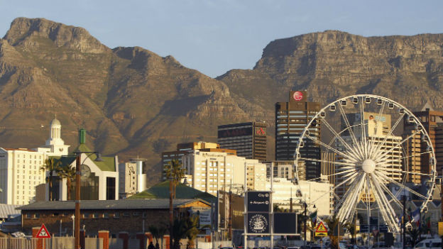Kapstadt in Südafrika: Blick auf den Tafelberg