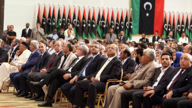 Der frisch gewählte libysche Nationalkongress vor einem Jahr.