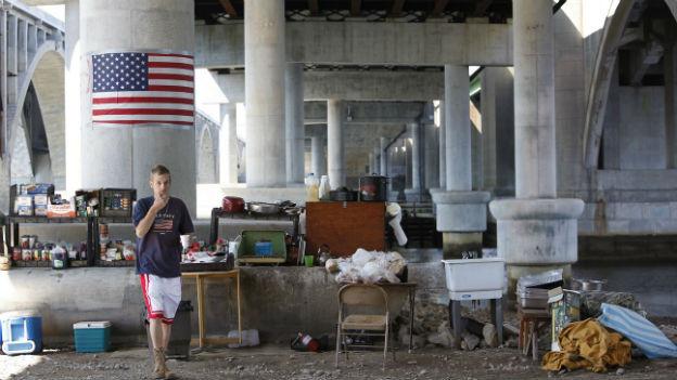 Armut in den USA: In Washington DC ein alltägliches Bild.