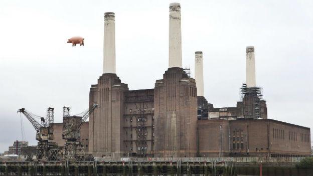 Battersea Power Station als Werbeobjekt für Pink Floyd
