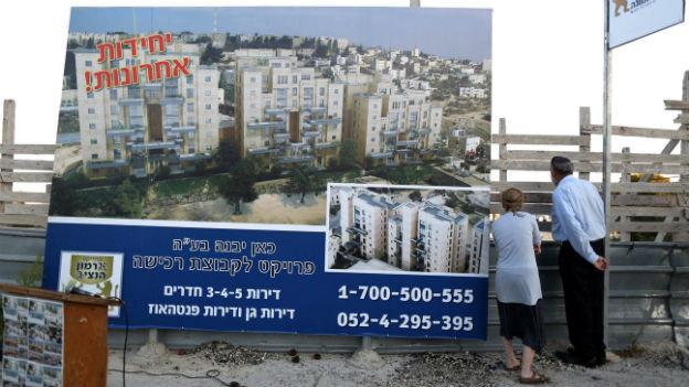Israel kündigt den Bau von über tausend Siedler-Wohnungen an.