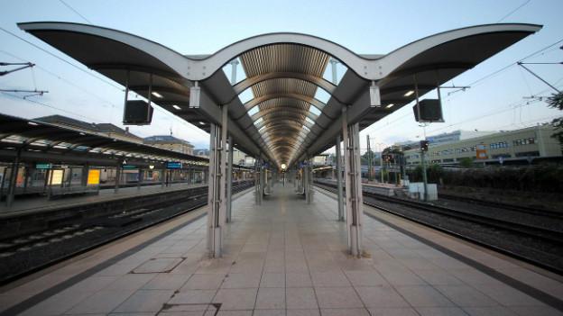 Bahnchaos in Mainz: der Bahnhof bleibt leer.