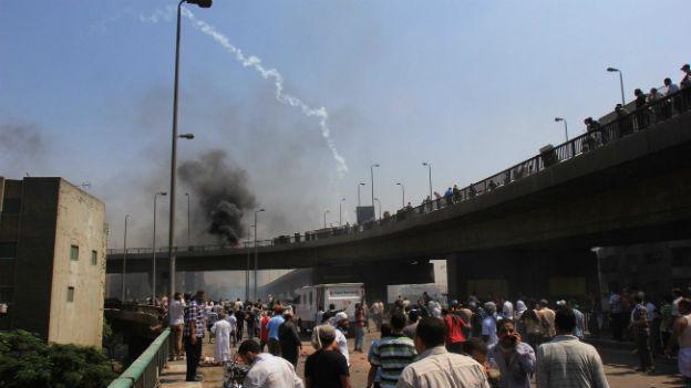Unruhen in Kairo am Donnerstag.