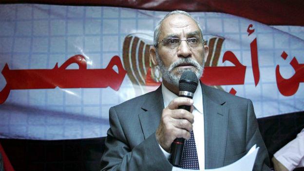 Mohammed Badie bei einem Auftritt in Kairo im Juli 2010.