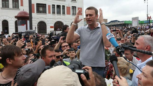 Triumphaler Empfang in Moskau: Nawalny nach seiner überraschenden Freilassung.