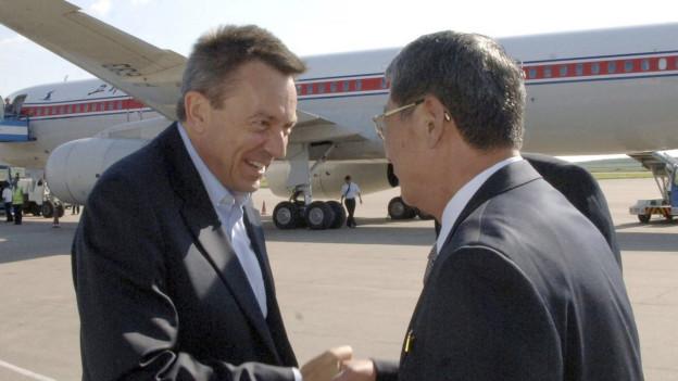 IKRK-Präsident Peter Maurer bei seiner Ankunft in Pjönjang.