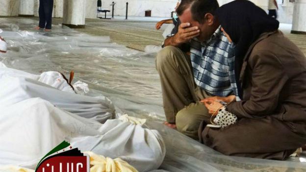 Nach den gemeldeten Giftgasangriffen in Arbeen, Damaskus