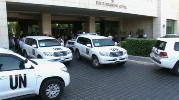Nach dem möglichen Giftgas-Angriff in Syrien: UNO-Inspekteure treffen in Damaskus ein.