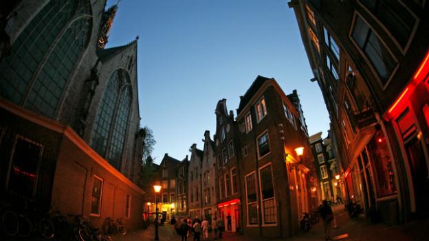 Die Sexboxen in den Niederlanden wurden vielerorts wieder geschlossen: Rotlicht-Viertel in Amsterdam.