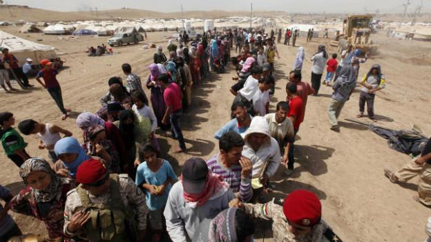 Syrische Flüchtlinge in einem Camp in der nähe der irakischen Hauptstadt Baghdad im August 2013.