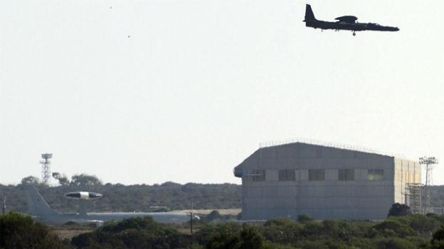Flüge über dem RAF-Stützpunkt Akrotiri auf Zypern.