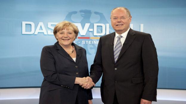 Angela Merkel und Peer Steinbrück