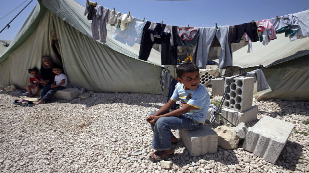 Syrische Flüchtlinge in einem libanesischem Flüchtlingslager.
