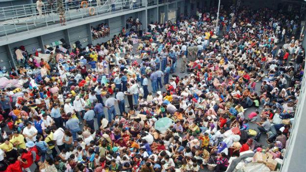 Ausgeschaffte Immigranten in Malaysia.