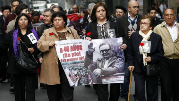 Präsente Vergangenheit in Chile: Protestmarsch Anfang September zu Ehren von Salvador Allende, der von Augusto Pinochet entmachtet wurde.