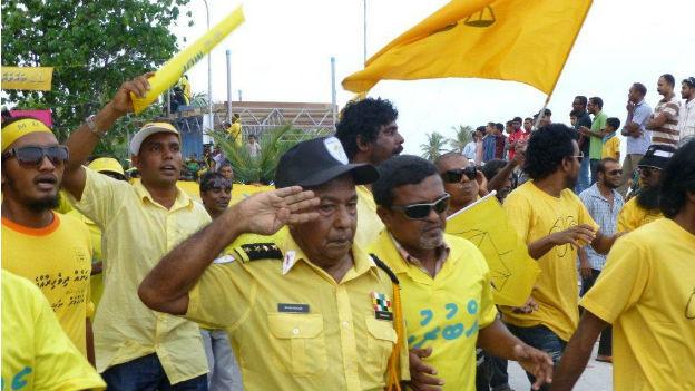 Wahlkampf auf den Malediven
