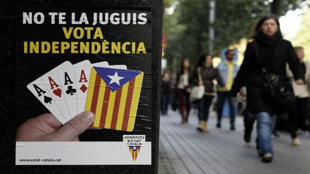 Politische Propaganda in Katalonien.