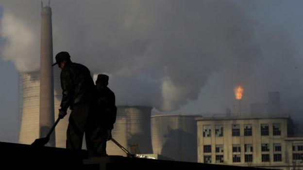 Kohlekraftwerk in der nördlichen chinesischen Provinz Hebei.